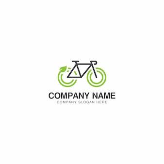 Modèle de vecteur de conception de logo eco bike