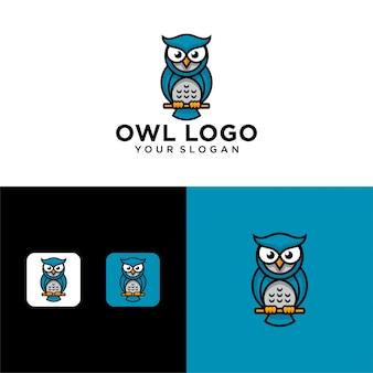 Modèle de vecteur de conception de logo de hibou créatif