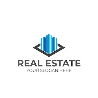 Modèle de vecteur de conception de logo immobilier d'entreprise de luxe