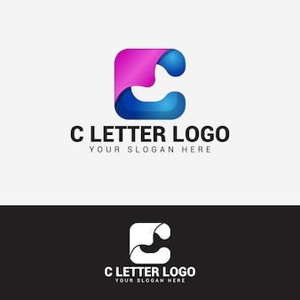 Modèle de vecteur de conception de logo de lettre c