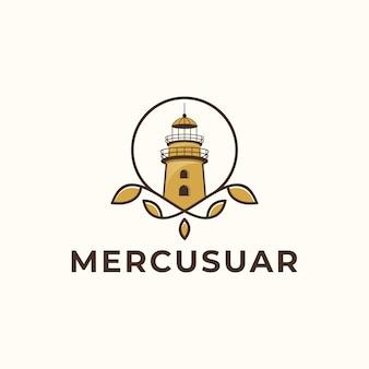 Modèle de vecteur de conception de logo mercusuar