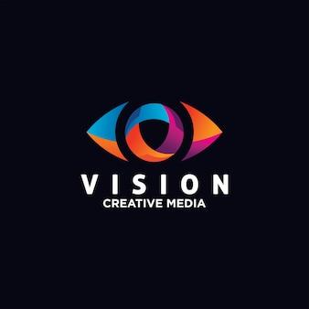 Modèle de vecteur de conception de logo oeil