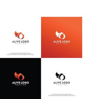 Modèle de vecteur de conception de logo phoenix