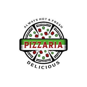 Modèle de vecteur de conception de logo pizza