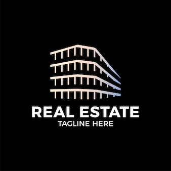 Modèle de vecteur de conception real estate construction logo.