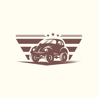 Modèle de vecteur de conception de voiture classique logo