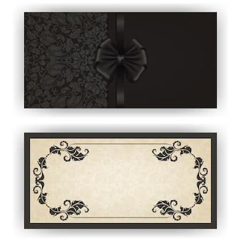 Modèle de vecteur élégant pour carte d'invitation de luxe