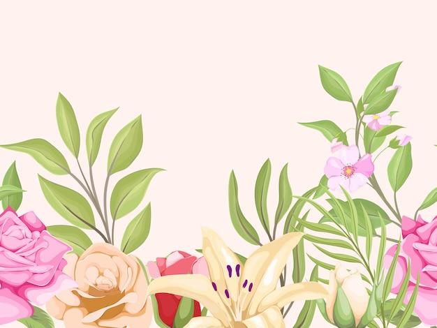 Modèle de vecteur floral beau modèle semless