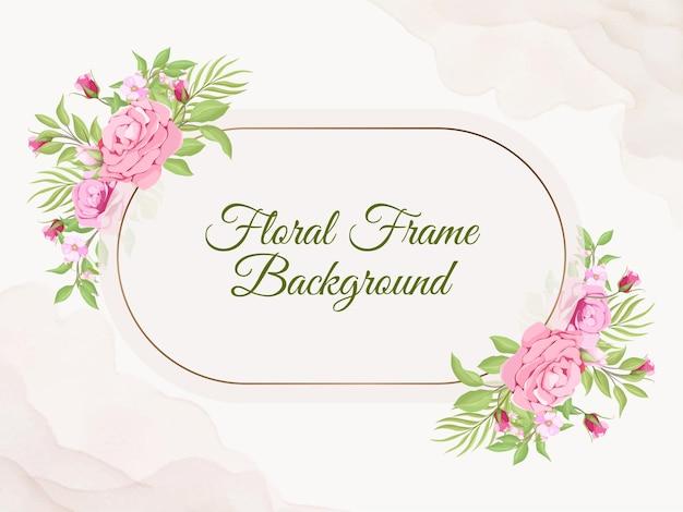Modèle de vecteur de flore de fond de bannière de mariage