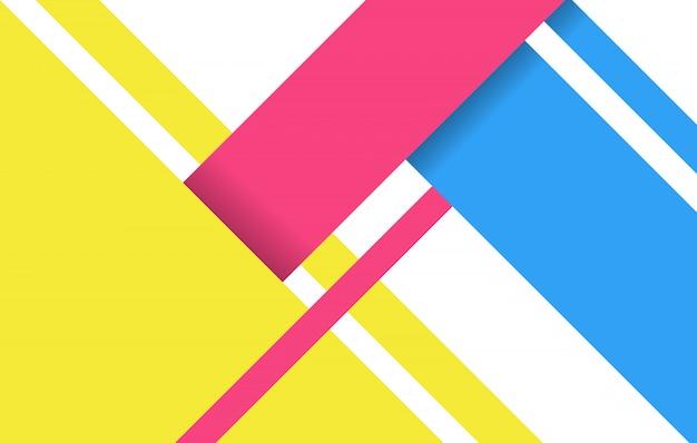 Modèle de vecteur de fond coloré géométrique