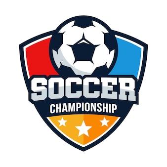 Modèle de vecteur de football football championnat logo