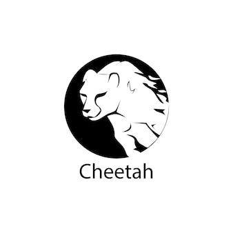 Modèle de vecteur de guépard logo modèle