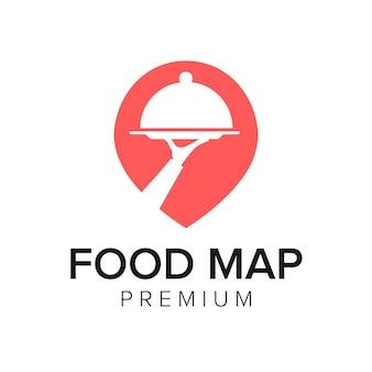 Modèle de vecteur d'icône de logo de carte alimentaire