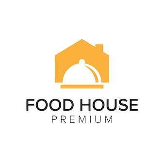 Modèle de vecteur d'icône de logo de maison de nourriture