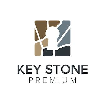 Modèle de vecteur icône logo pierre clé