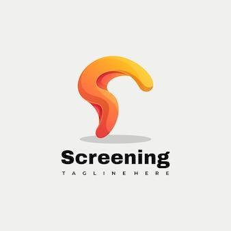 Modèle de vecteur d'illustration de logo abstrait coloré et lettre