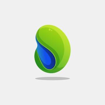 Modèle de vecteur d'illustration logo abstrait coloré