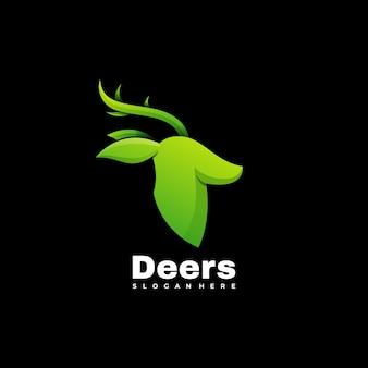 Modèle de vecteur d'illustration de logo de cerf animal coloré