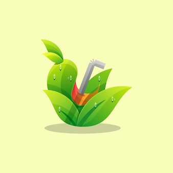 Modèle de vecteur d'illustration de logo de jus coloré