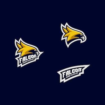 Modèle de vecteur illustration tournoi sportif eagle design