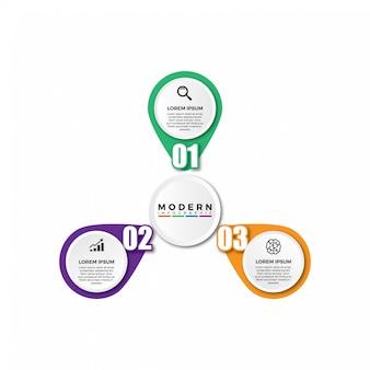 Modèle de vecteur d'infographie circulaire moderne