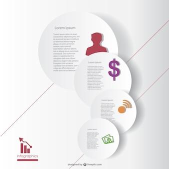 Modèle de vecteur infographie