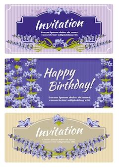Modèle de vecteur d'invitation de mariage carte de voeux