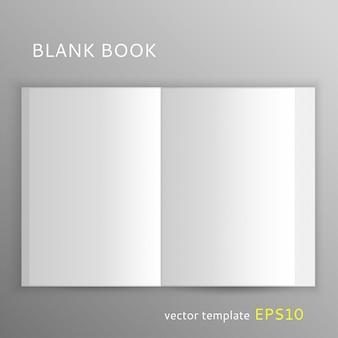 Modèle de vecteur de livre ouvert en blanc