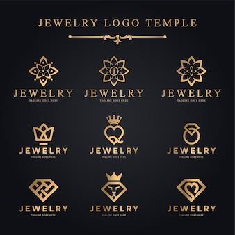 Modèle de vecteur de logo de bijoux - logo de luxe