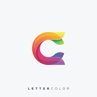 Modèle de vecteur de logo coloré lettre