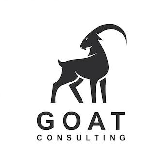 Modèle de vecteur logo design silhouette chèvre