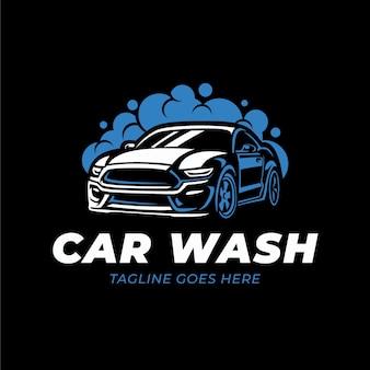 Modèle de vecteur de logo de lavage de voiture