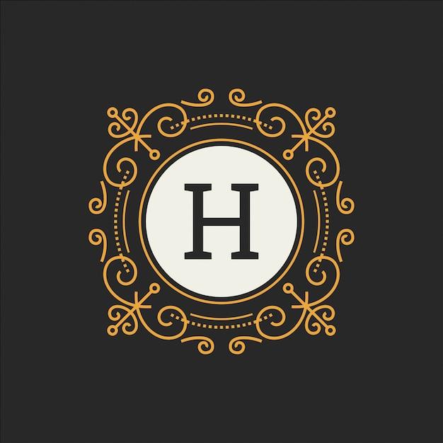 Modèle de vecteur de logo de luxe