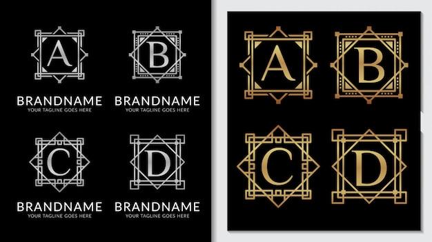 Modèle de vecteur de logo ornement classique minimaliste