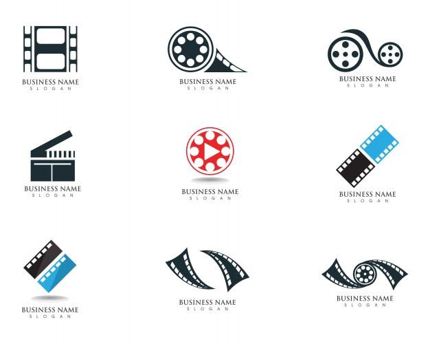 Modèle de vecteur de logo et symboles de film