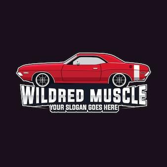 Modèle de vecteur de logo de voiture de muscle