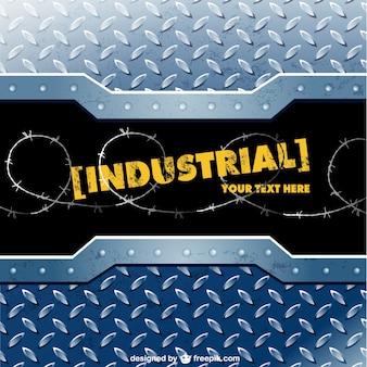 Modèle de vecteur de métal industriel
