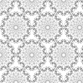 Modèle de vecteur oriental avec des éléments arabesques rondes
