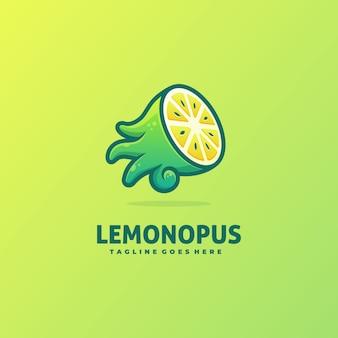 Modèle de vecteur de pieuvre et citron