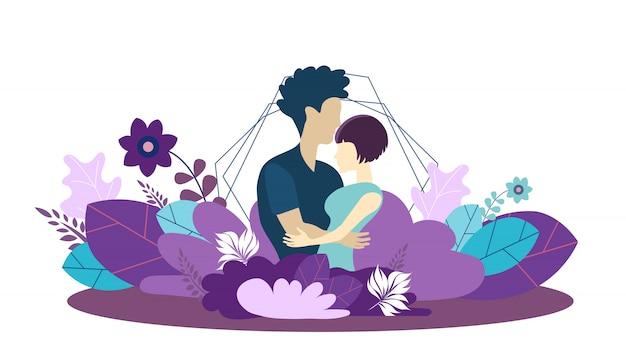 Modèle de vecteur pour la famille croissante et l'amour