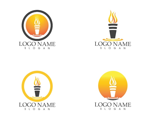 Modèle de vecteur pour le logo icône feu feu