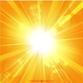 Modèle de vecteur de rayon de soleil de l'été
