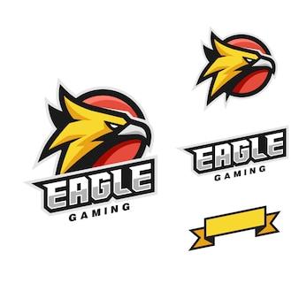 Modèle de vecteur style eagle head sport
