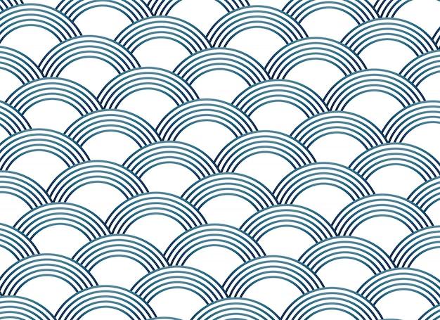 Modèle de vecteur de style sashiko abstrait