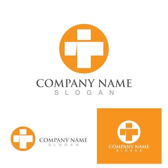 Modèle de vecteur de symbole de logo d'hôpital