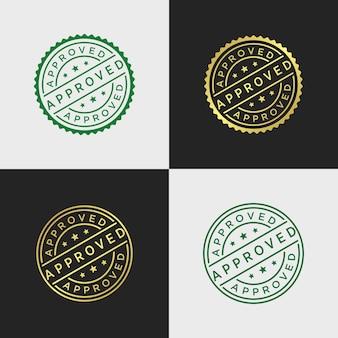 Modèle de vecteur de timbre approuvé