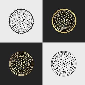 Modèle de vecteur de timbre authentique