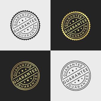 Modèle de vecteur de timbre de garantie
