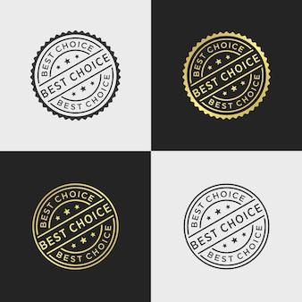 Modèle de vecteur de timbre meilleur choix