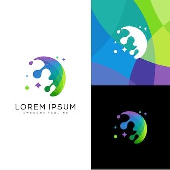 Modèle de vector illustration pluie couleur design concept